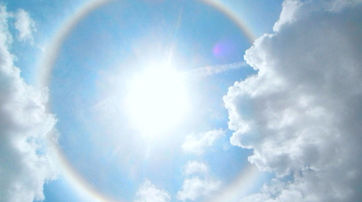 Halo Seen All Over Nepal
