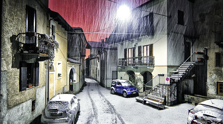 Snow Fall In Roma